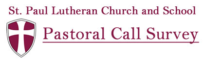 Pastoral Call Survey